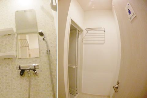 共有男性シャワー室は2ブースあります。