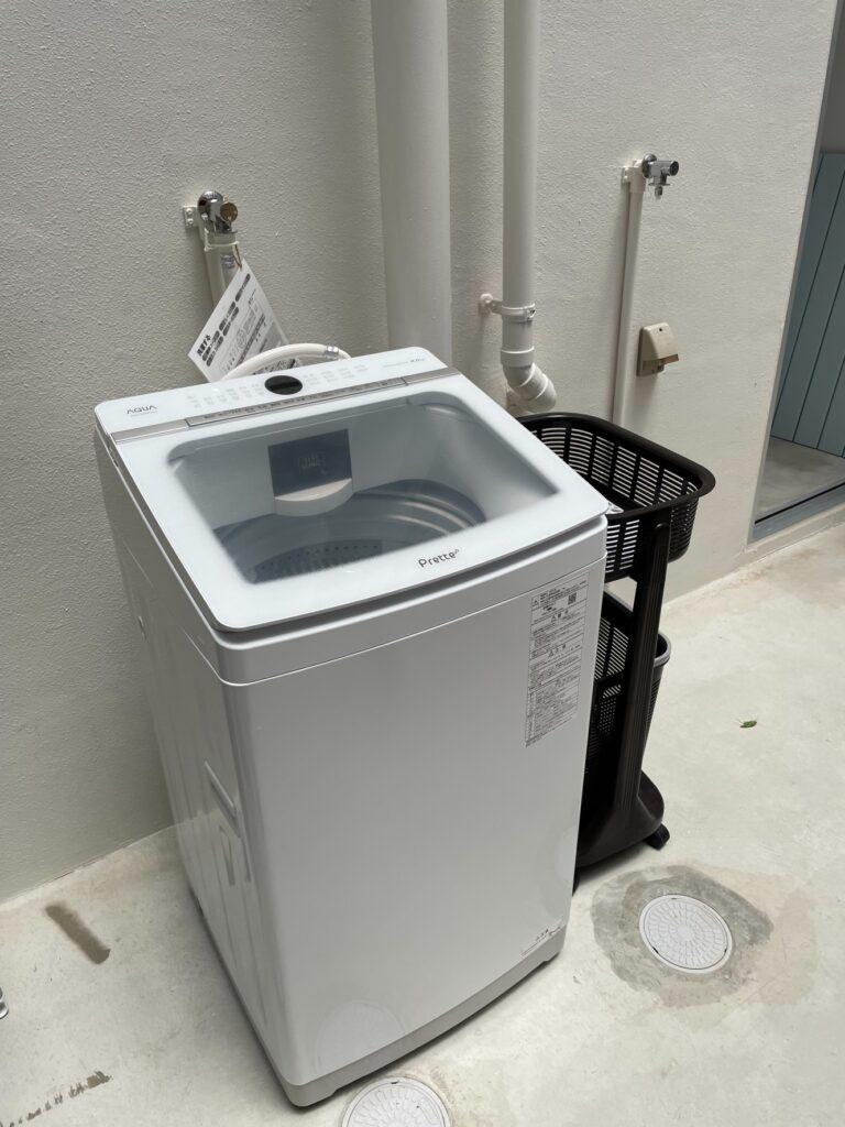 屋外洗濯機